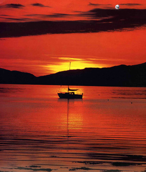 Sunset Loch Crinan