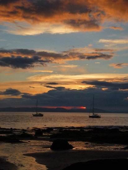 Sunset at Portmahomack