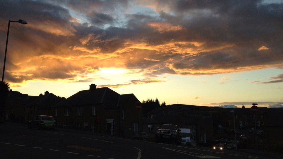 Sunset over Hawick