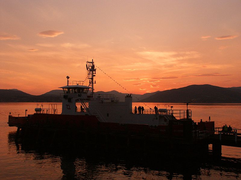sunset on the Clyde