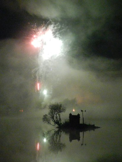 Fireworks on Loch Shin