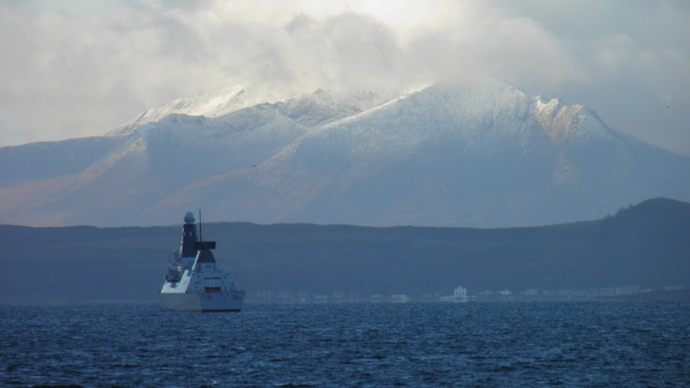 Winter - Arran & HMS Duncan