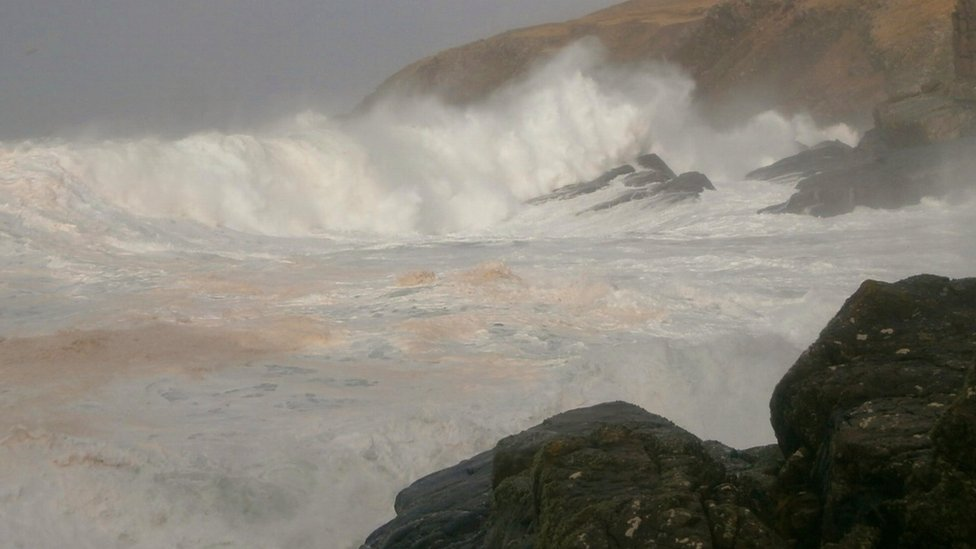 Winter - Stoer Head stormy day