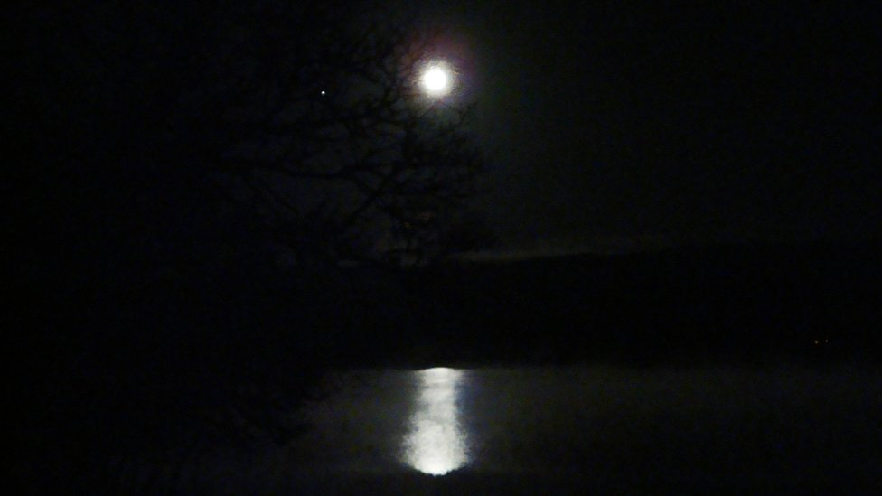 Winter - moon over Loch Awe