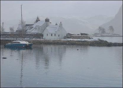 Winter - snow - plockton