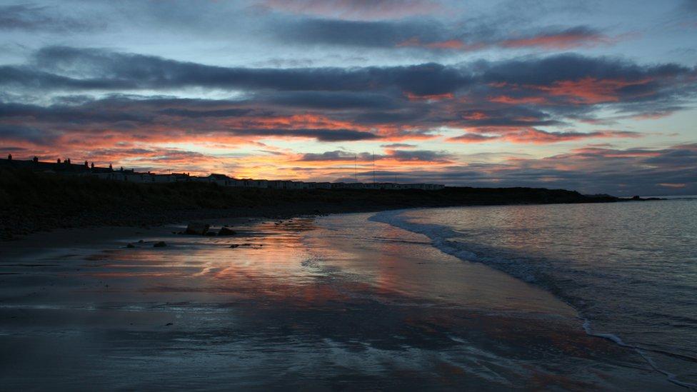 Winter - sunset at Hopeman