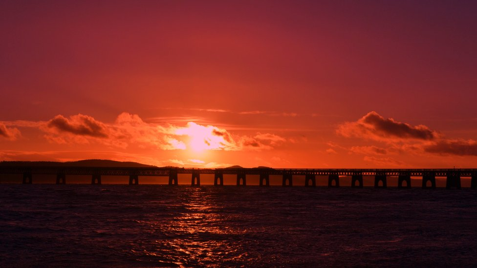 Winter - Tay Rail bridge sunset
