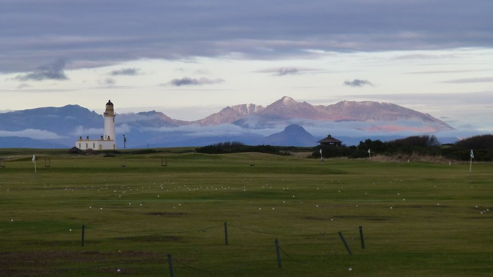 Winter - Turnberry Lighthouse & Isle of Arran