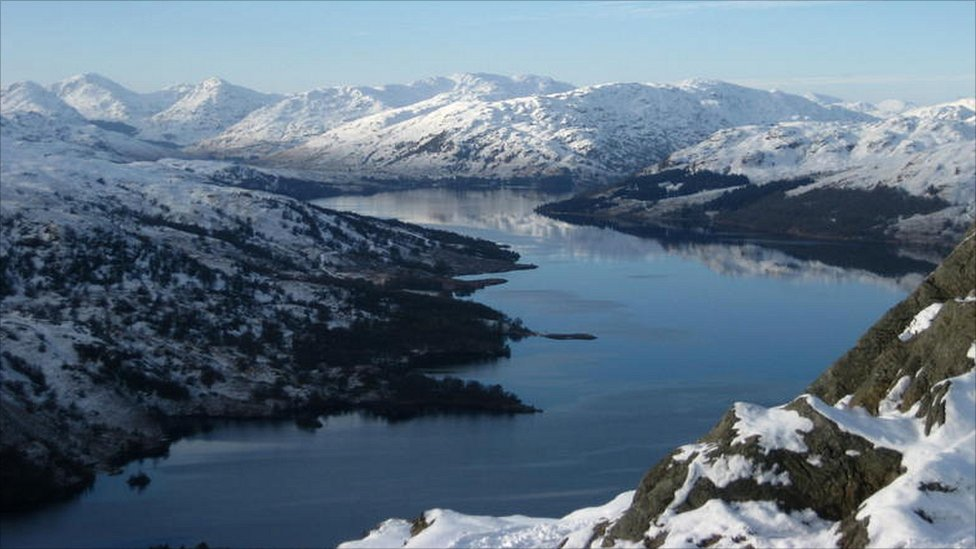 winter Arrochar Alps & Loch katrine