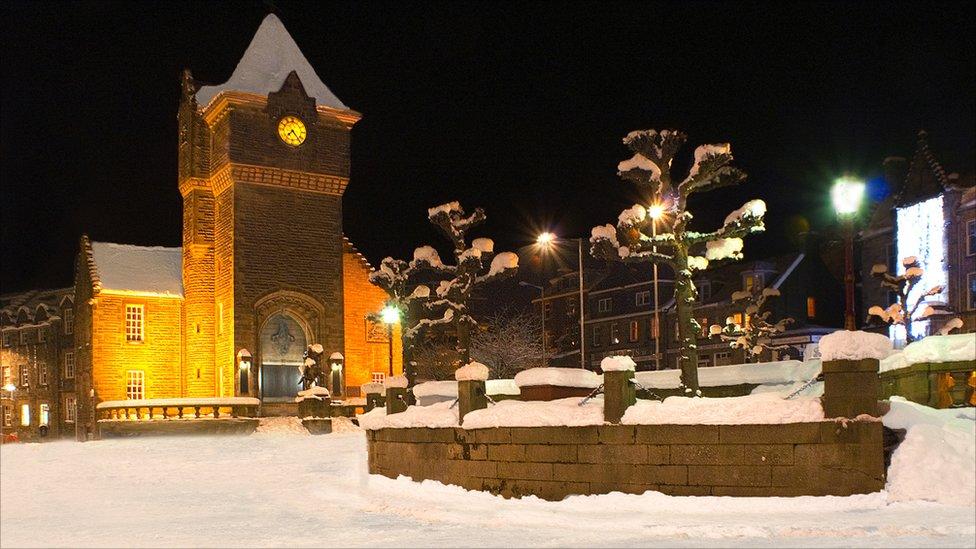 Winter Galashiels War Memorial
