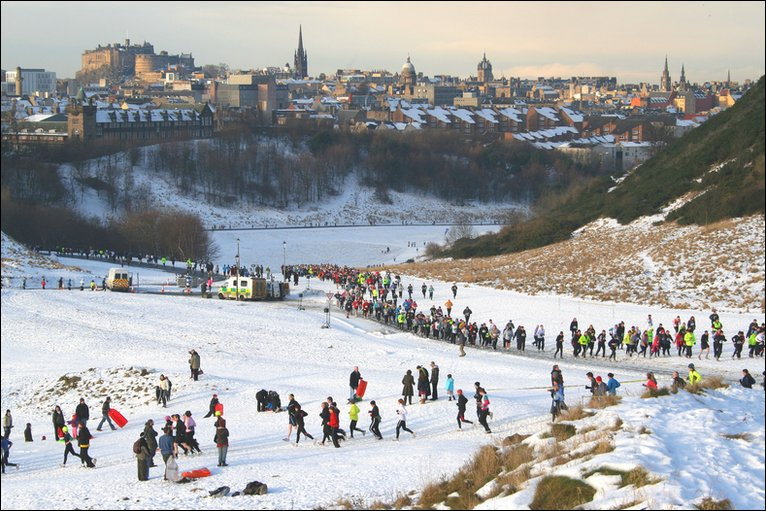 Winter Holyrood Park