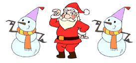 santa & snowmen dance