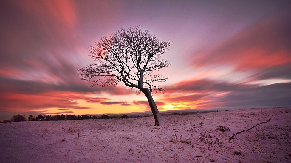 winter Bathgate sunrise