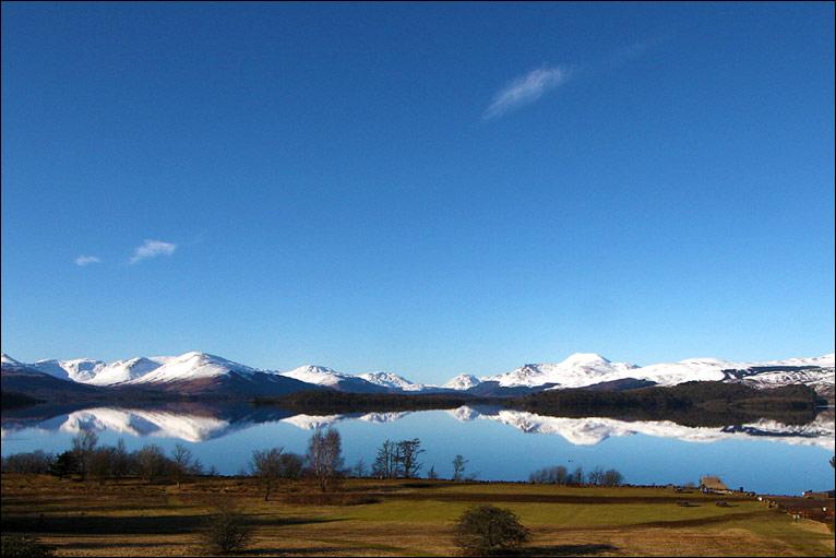 winter Loch Lomond view
