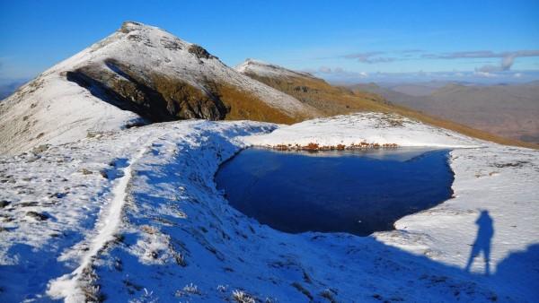 Winter - Stob Binnein from Stob Coire an Lochain