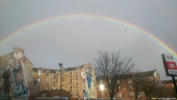 Winter - rainbow at Partick