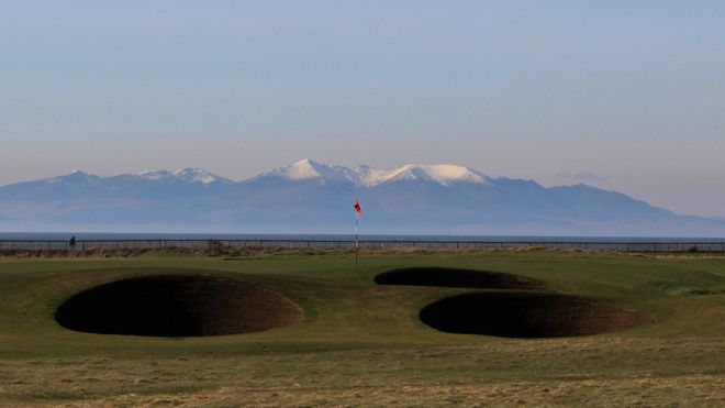 Spring - Royal Troon with Arran in background
