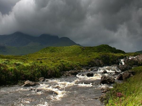 Glen Sannox River & rain