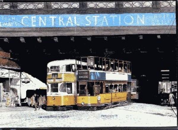 Hielanman's Umbrella & trams